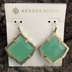 Kendra Scott Kristen drop earrings - green